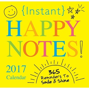 2017 Instant HAPPY NOTES 365 Page Page-A-Day /Boxed/ Daily Desk Calendar