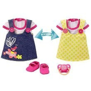 Baby Alive Adorable in Denim Reversible Outfit (Medium) by 2 in 1 Reversible Outfit