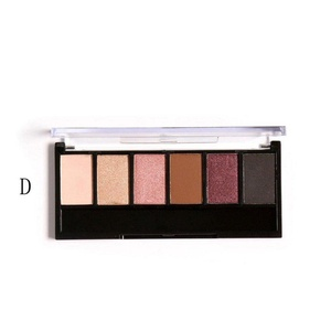 Orangeskycn Focallure Retro 6 Colors Smoky Eye Shadow Makeup Makeup Kit Charming (D)