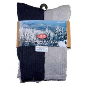 GMI Mens Clear Creek Wool 4pk Boot Sock 10-13 Multi