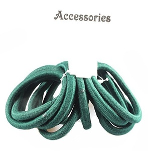 12 Thick Snag Free Endless Hair Elastics Bobbles Ponios Green by Cherry-on-Top