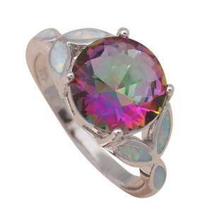 FT-Ring MysticTopaz Rings White fire Opal Jewelry For Women Engagement Wedding Bridal Rings (6)