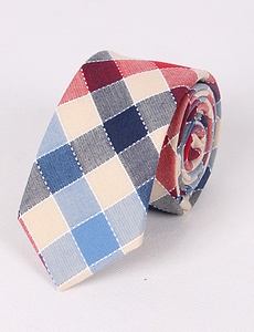 Men's Cotton Plaid Business Style Necktie