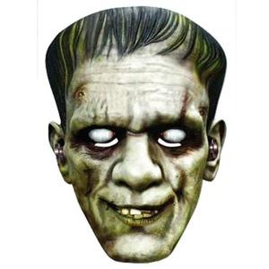 Frankenstein Mask, durable card by halloween party