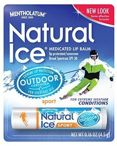 Natural Ice Natural Ice Lip Protectant/sunscreen sport SPF 30, 0.16-Ounce Tubes (Pack of 12)