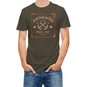 T shirt Nautical Sailor anchor Original spirit Khaki L