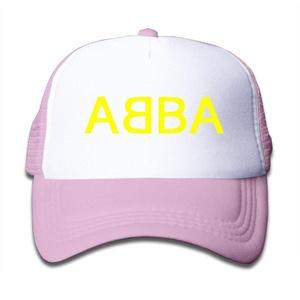 Kid's Boys Girls ABBA Trucker Hat Baseball Cap (3 Colors) Pink