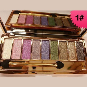 HUBEE 9 Colors Eye Shadow Palette Cosmetic Brush Shimmer Glitter Diamond Eyeshadow Set
