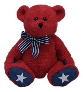 Ty Classic Patriotic Bear in Red by Ty Classic Patriotic Bear in Red