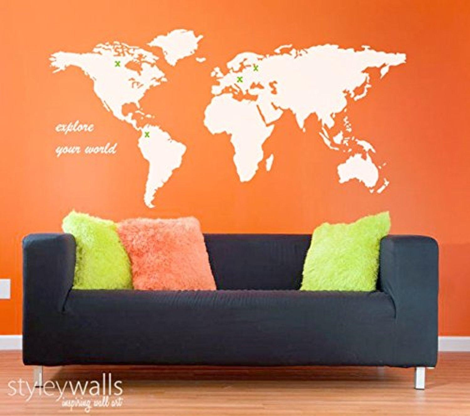 online store world map wall decal for living room home decor world map wall decal for living room home decor world map wall sticker for office