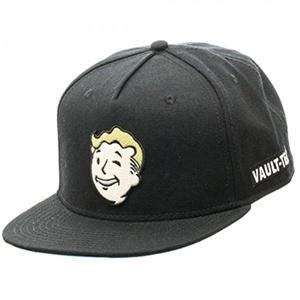 Fallout Vault-Tec Vault Boy Embroidered Patch Black Snapback Baseball Cap Hat