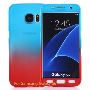 Samsung Galaxy S6 case, MAGGICWEI-DL Full Body Coverage Ultra-thin Hard Hybrid Plastic with [Slim Tempered Glass Screen Protector] Protective Case Cover & Skin for Samsung Galaxy S6