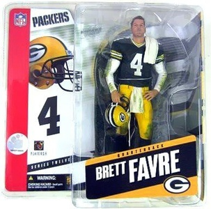 McFarlane Toys NFL Sports Picks Series 12 Action Figure Brett Favre (Green Bay Packers) Green Jersey wth Shoulder Towel Variant by McFarlane NFL Football Sportspicks Series 12