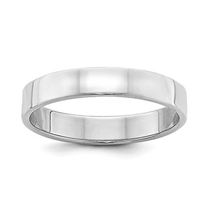 Sterling Silver 4mm Flat Wedding Band Ring