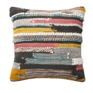 Textured Cotton Throw Pillow by Loloi Rugs, Relaxing and Comfortable, Perfect for Living Room Use, Graceful Design, Multi-colored