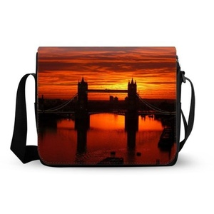 Bridge Of London England Oxford Fabric Messenger Bag