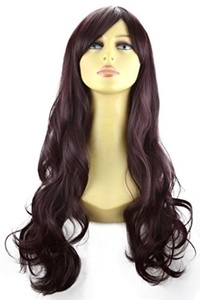 ELEGANT HAIR 22 Ladies Beautiful Full WIG Long Hair Piece LOOSE WAVES Dark Plum #99J/1 by Elegant Hair