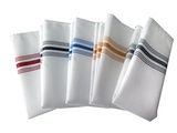Snap Drape NAPFSBLU Napkin, 100% Spun Polyester, Signature, Farm Stripe, 18