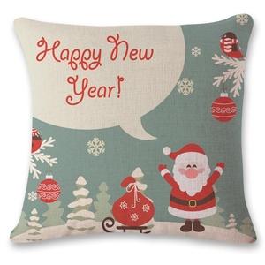 Iuhan Fashion Christmas Pillow Case Sofa Waist Throw Cushion Cover Home Decor (D)