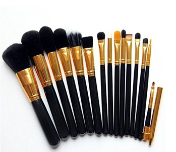 Dailyextreme 15pcs Makeup Brushes Set Powder Foundation Eyeshadow Eyeliner Lip Brush Tool