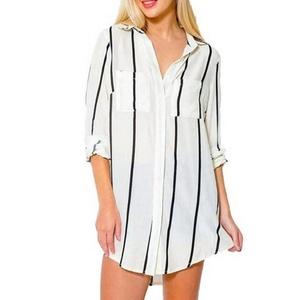 Women office Blouse, Misaky Sexy Casual Chiffon V-Neck Long Sleeve Shirt Tops (M, white)