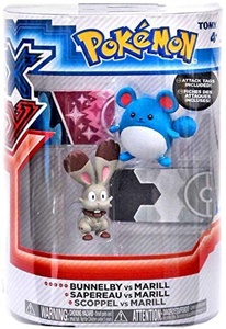 Pokemon TOMY Basic Figure 2-Pack Bunnelby Vs Marill by Pokemon Black & White Toys & Action Figures