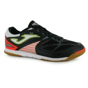 Mens Joma Lozana Indoor Football Boots Shoes Black White Orange (UK 7.5 / US 8.5)