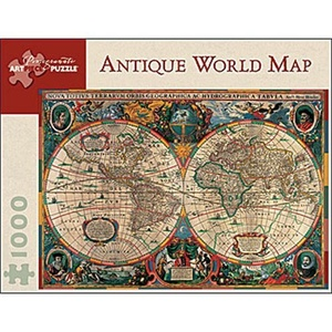 Pomegranate Antique World Map 1000 Piece Jigsaw Puzzle by Pomegranate