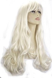 Elegant Hair - 22 Ladies Beautiful Full WIG Long Hair Piece WAVY Platinum Blonde #16/60 275g by Elegant Hair