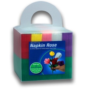 Napkin Rose Pack (150 roses, 5 colors) by Big Lightbulb Inc. - Michael Mode