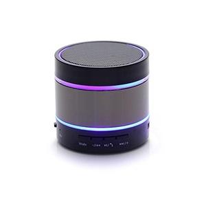 Hongrays Mini Metal Bluetooth Wireless Portable HiFi Bass Handfree Stereo LED Speaker£¨Grey Color)