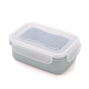 HAPLL Plastic Food Storage Containers Round/Rectangular with Lids Food Savers Lunch Boxes Leak-Resistant-(Blue,Rectangular)