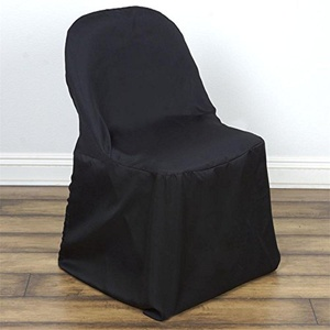 100 Black Polyester Folding Chair Covers