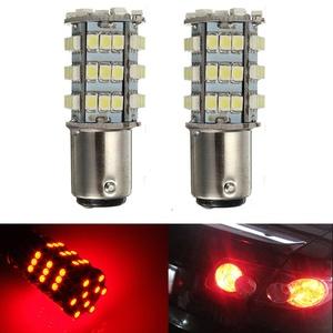 KATUR 2 x Red 1157 S25 BAY15D 1210 54-SMD LED Car Lights Bulb Backup Signal Blinker Tail Light Bulbs 12V Replacement 1016 1034 2057 7528 1157A 1178A LED Light