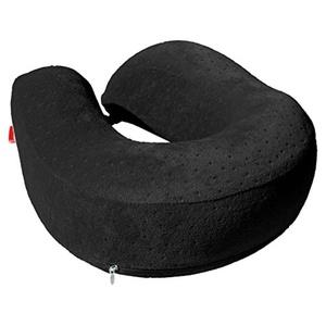 Memory Foam Large U Shape Travel Pillow Neck Support Head Rest Cushion Black