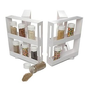 N More Cabinet Organizer Sliding Space Saver Spice 2 Racks ,Plastic 8