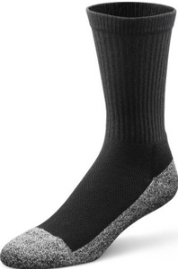 Dr. Comfort Diabetic Extra Roomy Socks, Black, Large (1 Pair) by Dr. Comfort