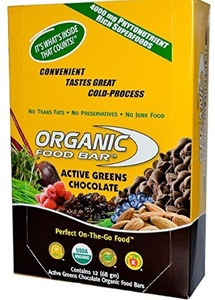 Organic Food Bar, Active Greens Chocolate, 68g (Pack of 12) by Organic Food Bar