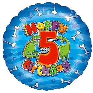 FOIL BALLOON-HAPPY 5th BIRTHDAY-18 BALLOON by 5th Birthday