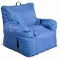 Large Arm Chair Bean Bag Chair in Blue