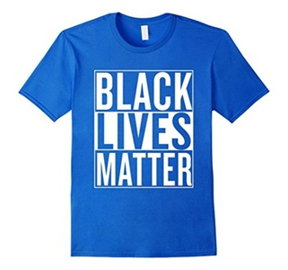 Men's Black Lives Matter Race Unity Say No Racism T-shirt Small Royal Blue