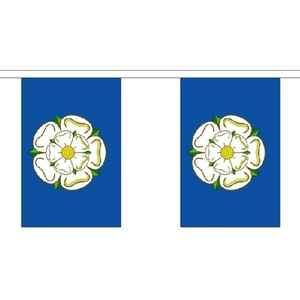 Yorkshire New Giant Bunting (30 Large Flags) 18.25M English County Rose New 60Ft by Yorkshire New