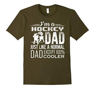 Men's Hockey Shirts - Hockey Dad Cooler Shirts Small Olive