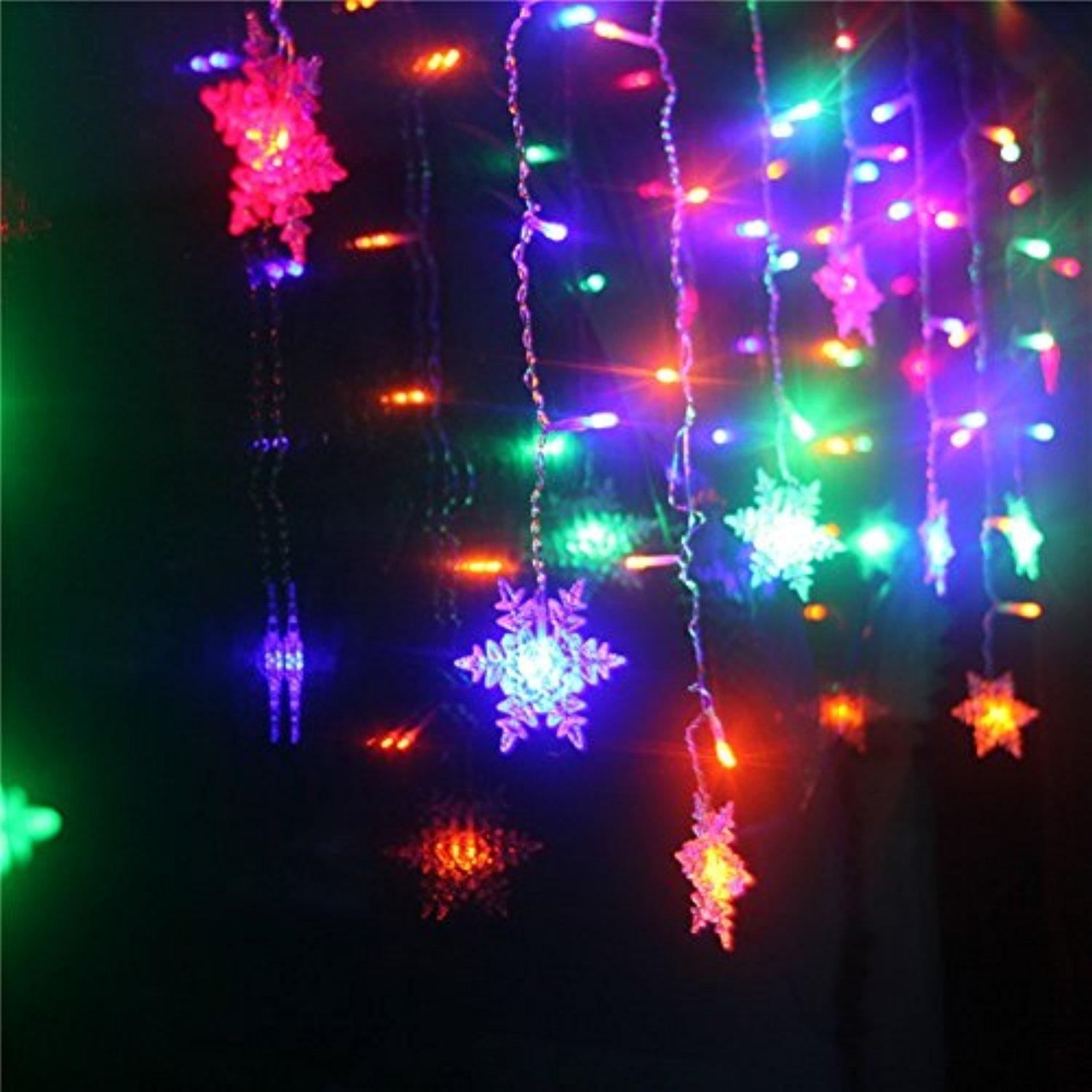 Christmas Lights Led Carnival Light Chain String Lights Lantern Outdoor Waterproof Snow F