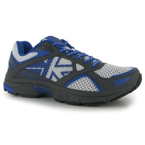 Mens Karrimor Pace Control Running Shoes White Grey Blue (UK 10 / US 10.5)