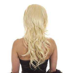 Hair By MissTresses Bodywave Half Wig Extensions Hairpiece with backcombed crown for added volume, Monroe Light Blonde by Hair By MissTresses