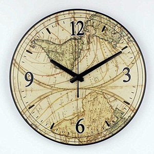 World map large decorative wall clock modern design absolutely silent office room decoration watch wall