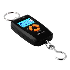 WH-A05L LCD Portable Digital Electronic Black Scale Pocket 45kg/10g Luggage Hanging Fishing Hook Balance Scale lb oz kg