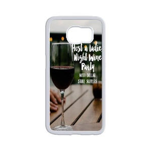 Samsung Galaxy s6 edge Case, LEDGOD Fashionable Gift DIY Red Wine Glass White Cover Phone Case for Samsung Galaxy s6 edge Shell Phone.