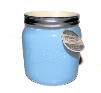 Mason Jar Glass Canister - Pastel Blue